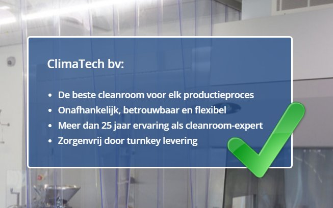 Home - Climatech bv | Cleanroom constructors